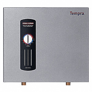 Electric Tankless Water Heater, General Purpose, Whole House, 21,600/28,800 Watts, 3 x 50 Amps AC