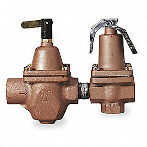 Iron/Bronze Combination Fill and Relief Valve, FNPT Inlet Type, FNPT Outlet Type