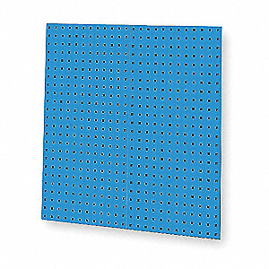 Blue Steel Pegboard, 9 sq. ft. Storage, Package Quantity 2