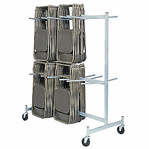 Folding Chr Strg Cart,72 Chairs,800 lb.