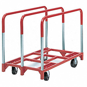 General Purpose Panel Truck, 2400 lb. Load Capacity, (2) Swivel, (2) Rigid Caster Wheel Type