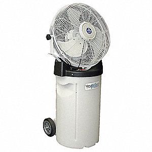 "18"" Commercial Pedestal-Mounted Non-Oscillating Misting Air Circulator"
