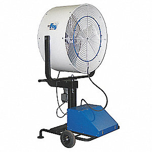 "36"" Commercial Pedestal-Mounted Oscillating Misting Air Circulator"
