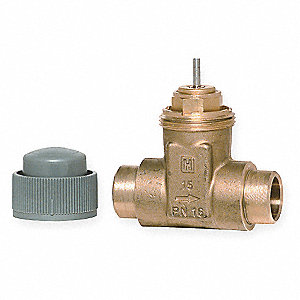 Two-Way Sweat Valve,3/4 In, 4.9 Cv
