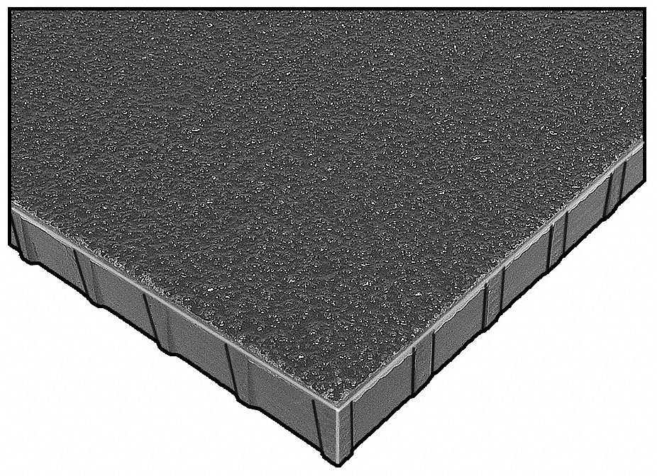 Fibergrate Dark Gray Molded Grating Corvex Resin Type 4