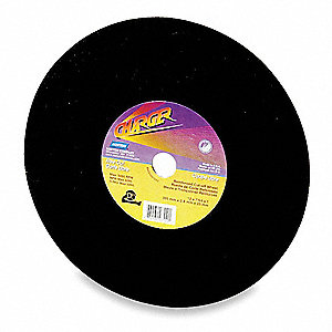 "12"" Abrasive Cut-Off Wheel, 7/64"" Thickness, 1"" Arbor Hole"