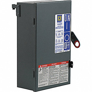 Floor Operable Disconnect, 600VAC Voltage, 30 Amps, Phase/Wire: 3 Phase, 3 Wire with Ground