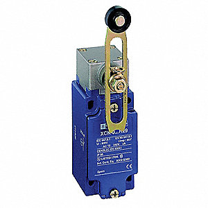 Heavy Duty Limit Switch, 240VAC/DC Voltage Rating, 10 Amps, Side Actuator Location