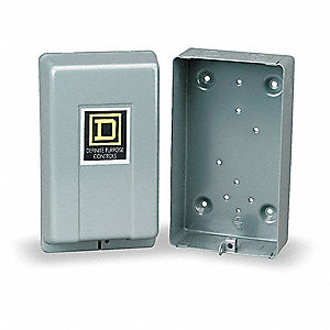 NEMA 1 Definite Purpose Motor Starter Enclosure for Fits: 2 and 3 Pole Definite Purpose Contactors,