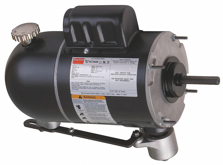 Dayton 1  4 Hp Oscillating Fan Motor  Permanent Split Capacitor  1075  875 Nameplate Rpm 115