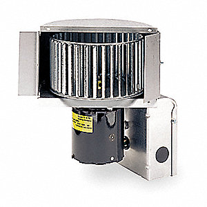 "Galvanized Steel Inline Duct Booster, Fits Duct Dia. 5 to 8"", Voltage 120V"