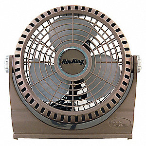 "Non-Oscillating, 9"" Portable Pivot Fan, 120V Voltage, 2 Number of Speeds"