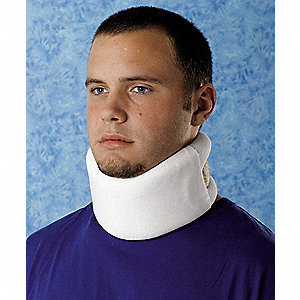 Cervical Collar,Foam,White,XS