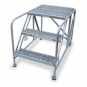 "Rolling Work Platform, Steel, Single Access Platform Style, 20"" Platform Height"