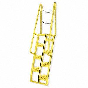 "Alternating Tread Stairs, Steel, 10 ft. Overall Height, 23-1/2"" Overall Width, 350 lb. Load Capacity"