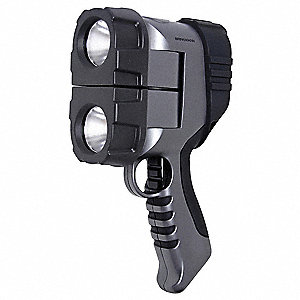 Gen Purpose Spotlight,Gray,LED,300L,AA