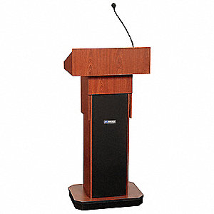 Lectern,Full Height, Sound,Mahogany