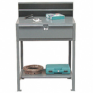 Shop Desk,36 x 54 x 28 In,Gray