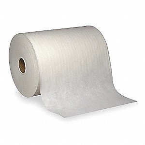 White Hydroentangled Shop Towel Roll, Number of Sheets 300, Package Quantity 3
