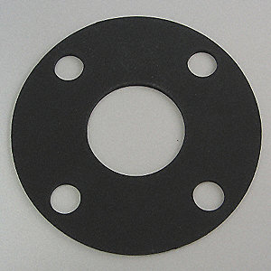 Flange Gasket,Full Face,4 In,Viton