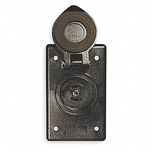 Marine Outlet, 1-Gang, 1-Inlet, Glass