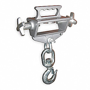 "Forklift Lifting Hook, Single Fork, Single Swivel Hook, 4000 lb., Fork Pocket Size 2-1/4"" H x 6"" W"