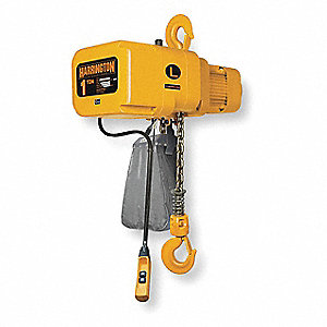 1000 lb. Capacity Electric Chain Hoist, H4 Classification, 20 ft. Lift, 208/230/460 Voltage