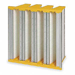 MERV 14, 100% Synthetic Media, V-Bank Air FilterWithout Gasket, Metal Frame