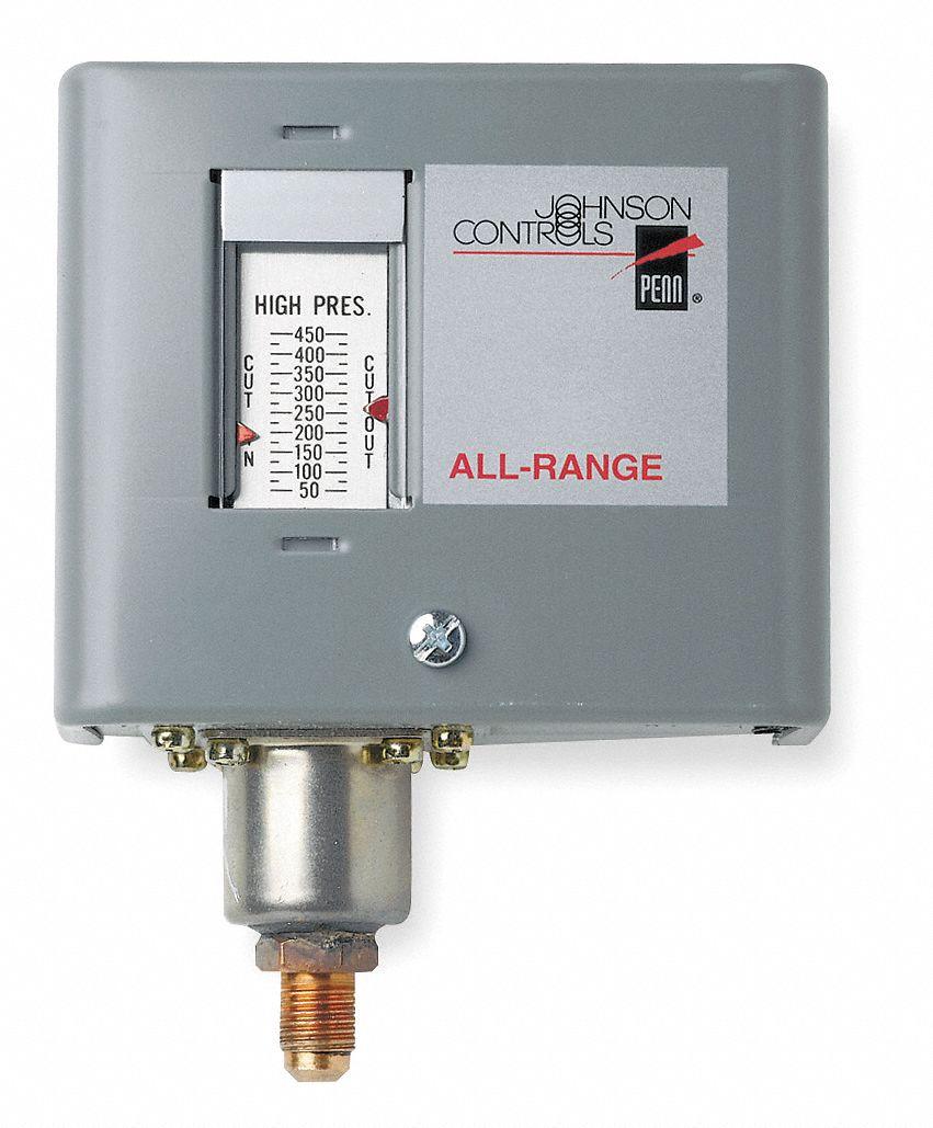 JOHNSON CONTROLS Pressure Control, 0 To 150