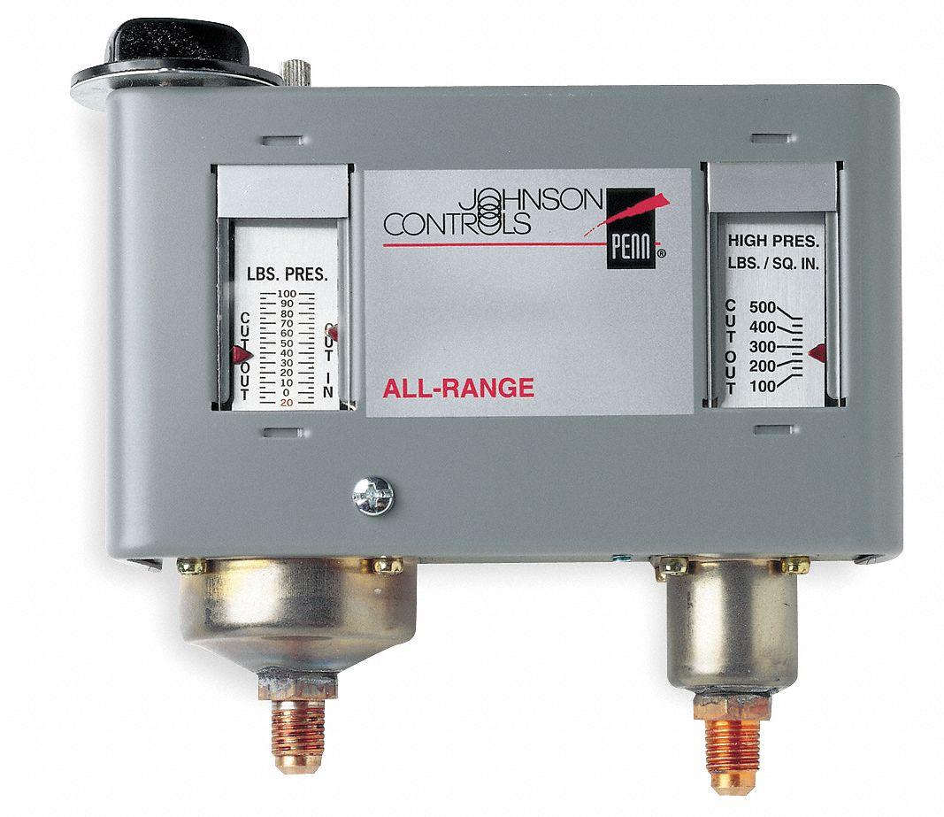 JOHNSON CONTROLS Dual Pressure Control, 2 SPDT