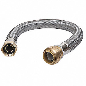 Flexible Hose Assembly,3/4 In,12 In L