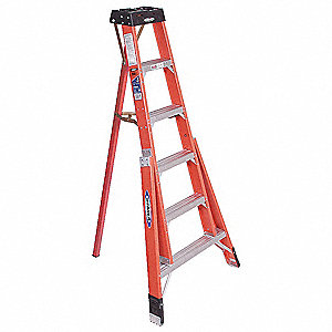 6 ft. 300 lb. Load Capacity Fiberglass Tripod Stepladder