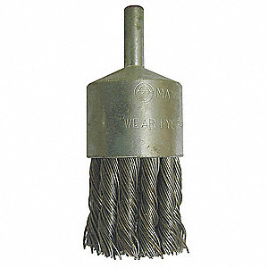 End Brush,1 1/8 In D,SS,0.014 Wire