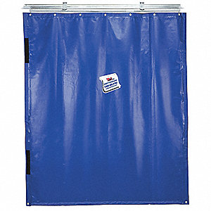 Blue Curtain Wall, Universal Mount Mounting, 12 ft. Width, 8 ft. Height