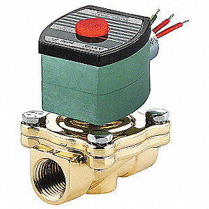 Solenoid Valve,2/2,2 In,NO,120V,Brass