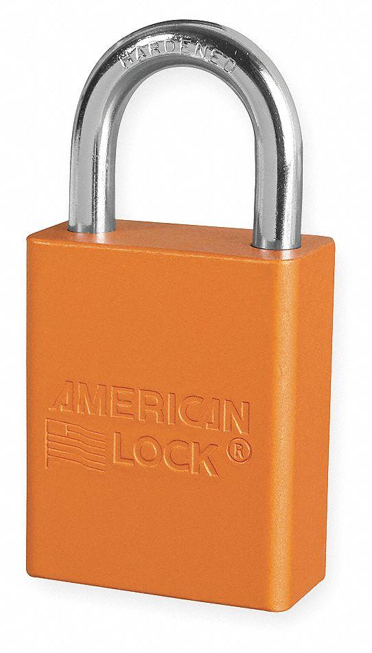 American Lock Orange Lockout Padlock Different Key Type