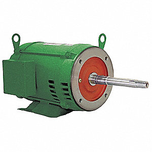 5 HP Close-Coupled Pump Motor,3-Phase,3490 Nameplate RPM,208-230/460 Voltage,182JP