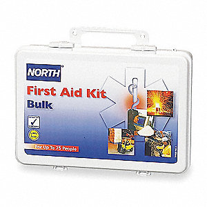 First Aid Kit,Bulk,White,75 People