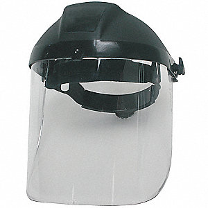 Ratchet Faceshield Asmbly,Blk,9x15-1/2in