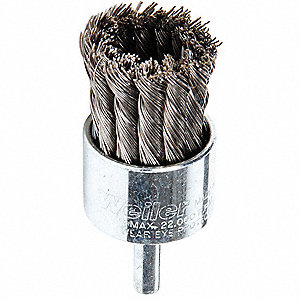 Knot Wire End Brush,Steel,1-1/8 In.