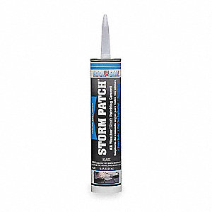 Rubberized Cement Patch, 10.5 oz. Size, Black Color, Container Type: Tube