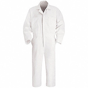 Coverall,Chest 50In.,White
