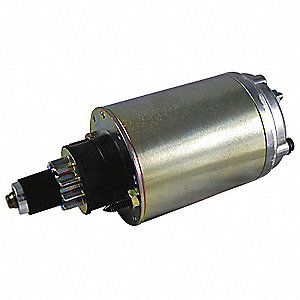 "12VDC Small Engine Starter Motor,2-1/2"" Bolt Center,Number of Mounting Holes: Stud Mounted,Number of"