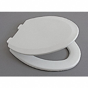 Toilet Seat, Elongated, With Cover, 18-29/32'' Bolt to Seat Front