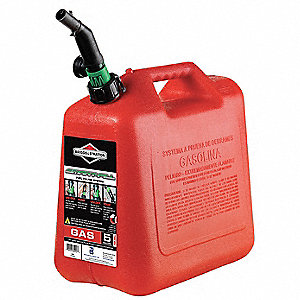 Spill Proof Gas Can,5 Gal.,Red,Self Vent