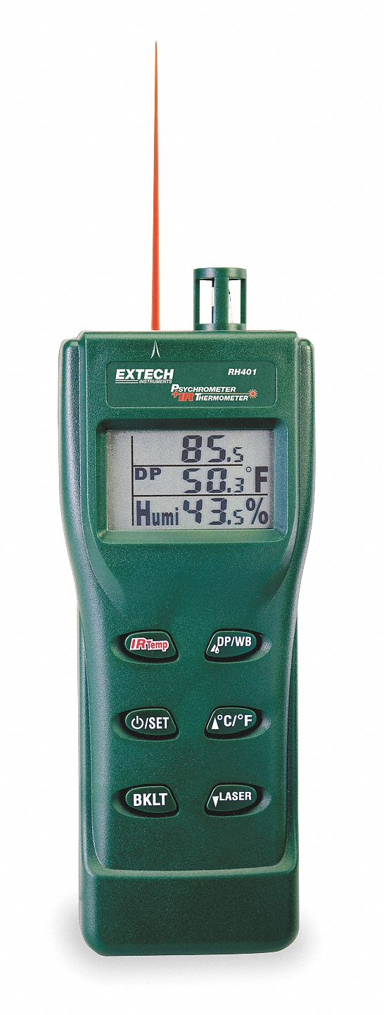 Relative Humidity Meter : Extech relative humidity meter with infrared thermometer