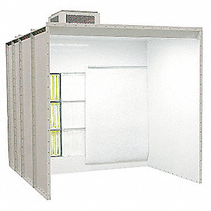 Non Recovery Powder Booth,10 x8 x6  ft.