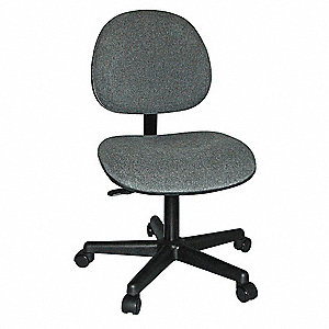 "Lexington Value-Line Gray Pneumatic Task Chair, 17 to 22"" Seat Height Range, 300 lb. Weight Capacity"