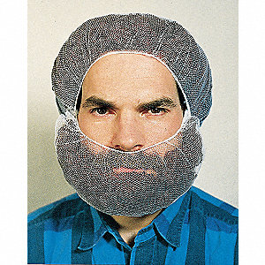 Beard Cover,White,Universal,PK100