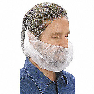 Beard Cover,White,Regular,PK100